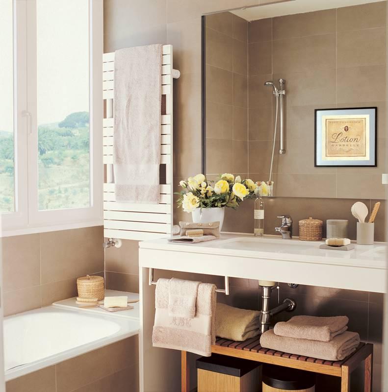 perfect mueble de bao con espejo toallero flores y cuadro with muebles  espejo bao. e053966c76b6