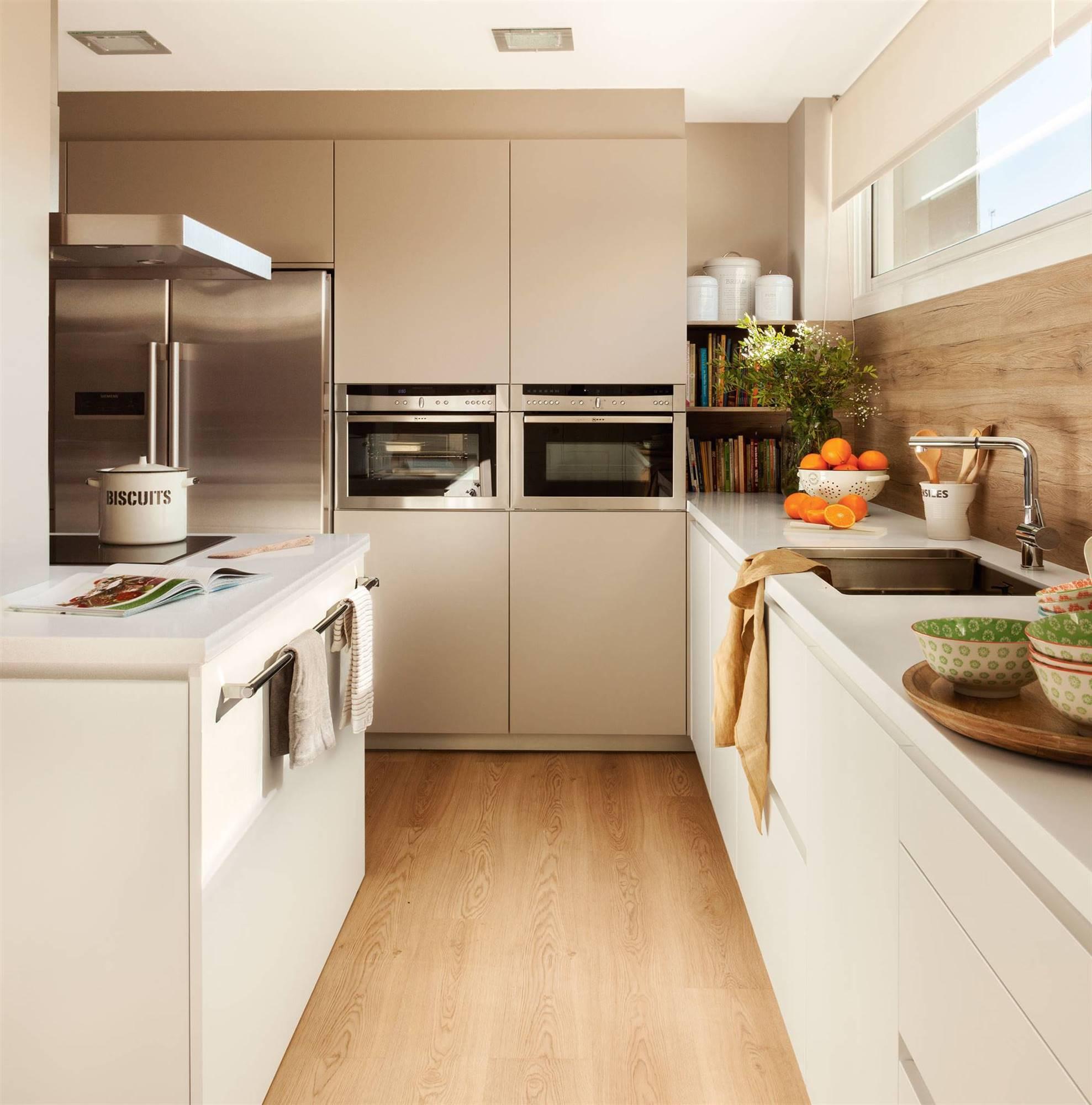 Cocinas modernas para inspirarte y coger ideas para copiar - Cocinas blancas lacadas ...