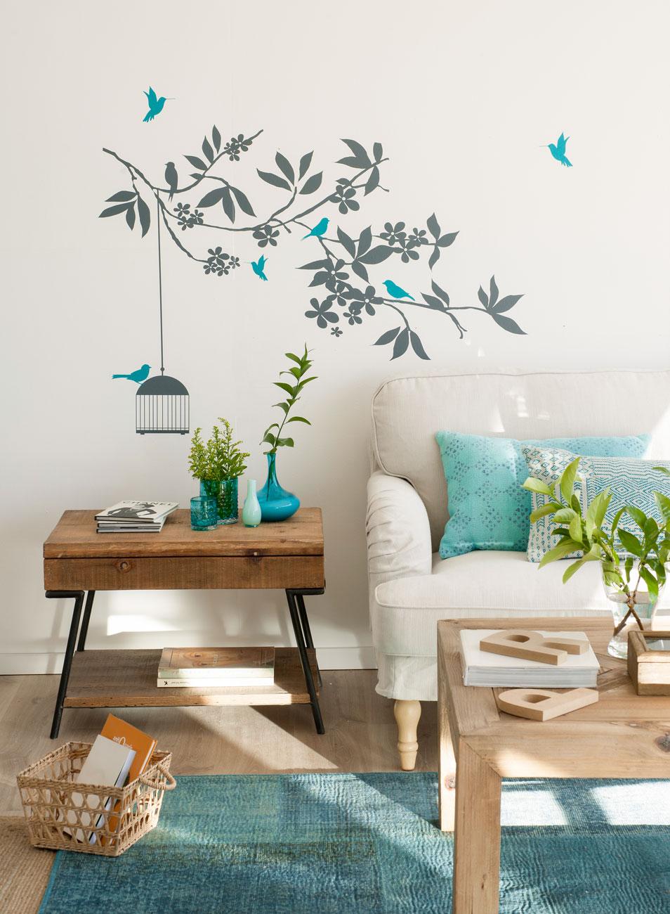 C mo decorar las paredes sin hacer agujeros - Paredes decoradas con vinilos ...