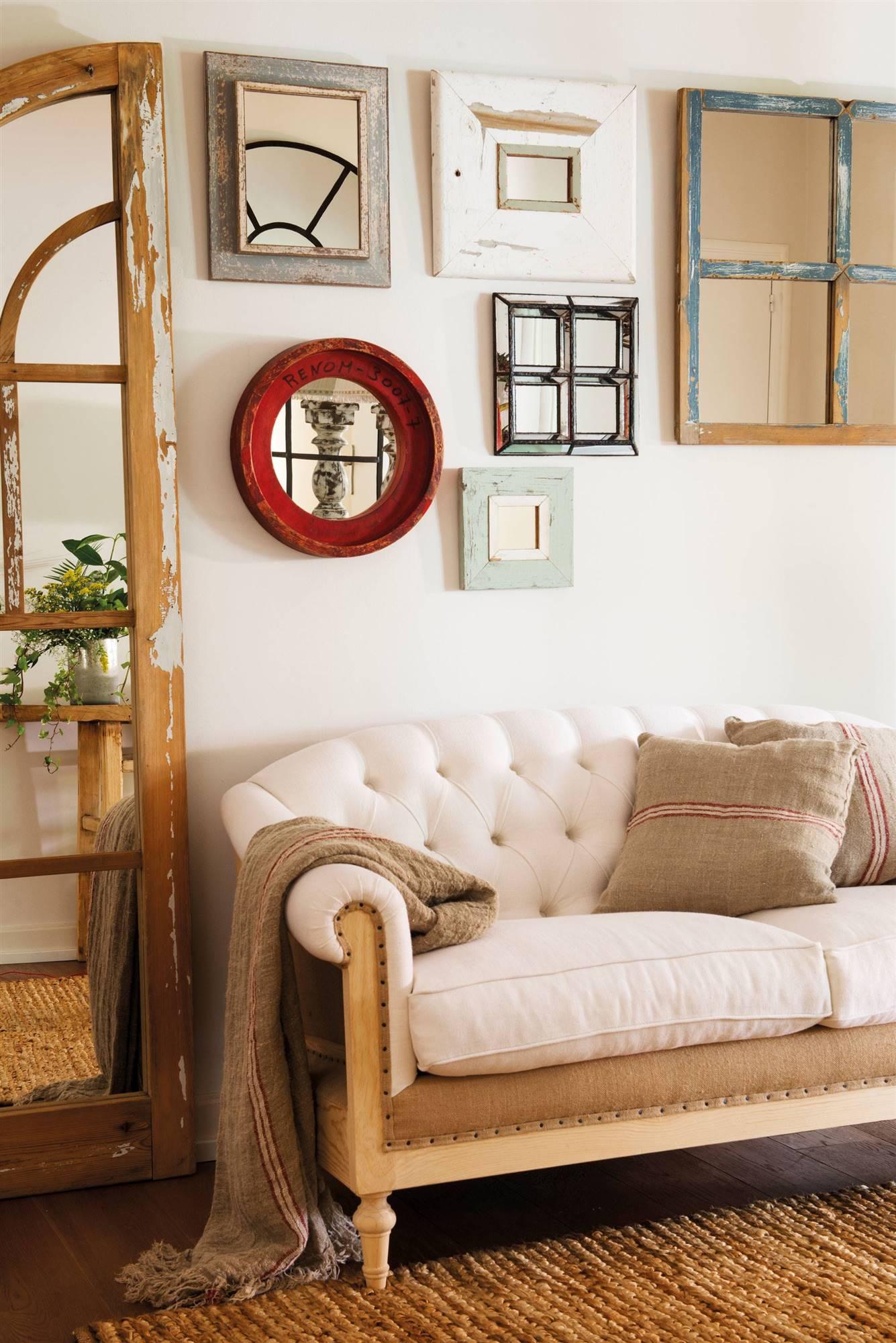 Espejos 50 dise os de todos los estilos para tu casa for Decorar paredes con cuadros y espejos