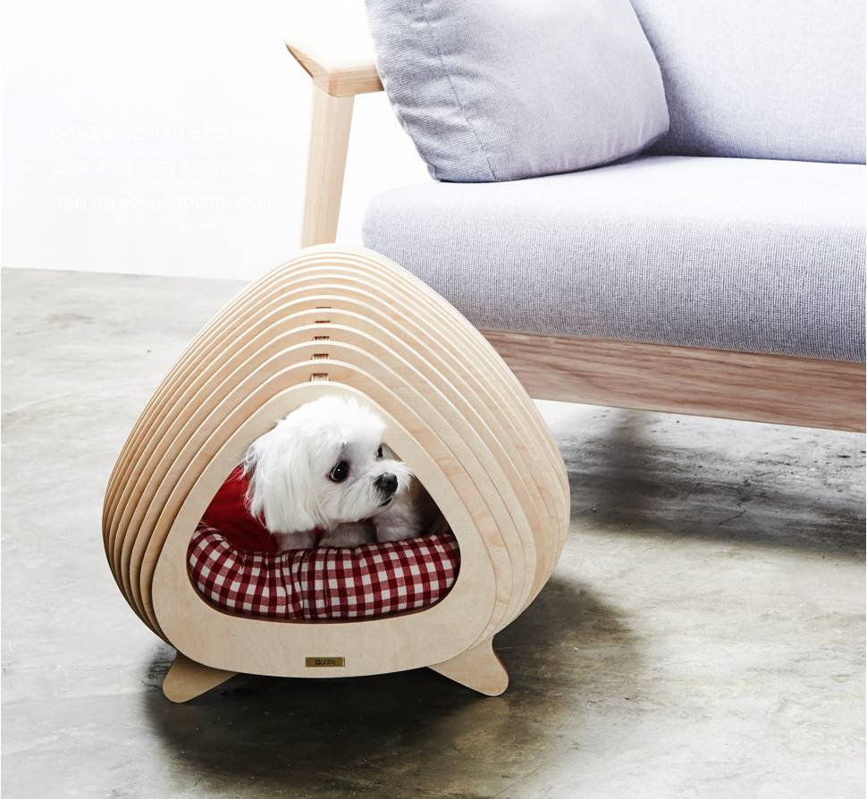 dog milk modern plywood doghouse POTE 01. ¡Guau! Nos encanta