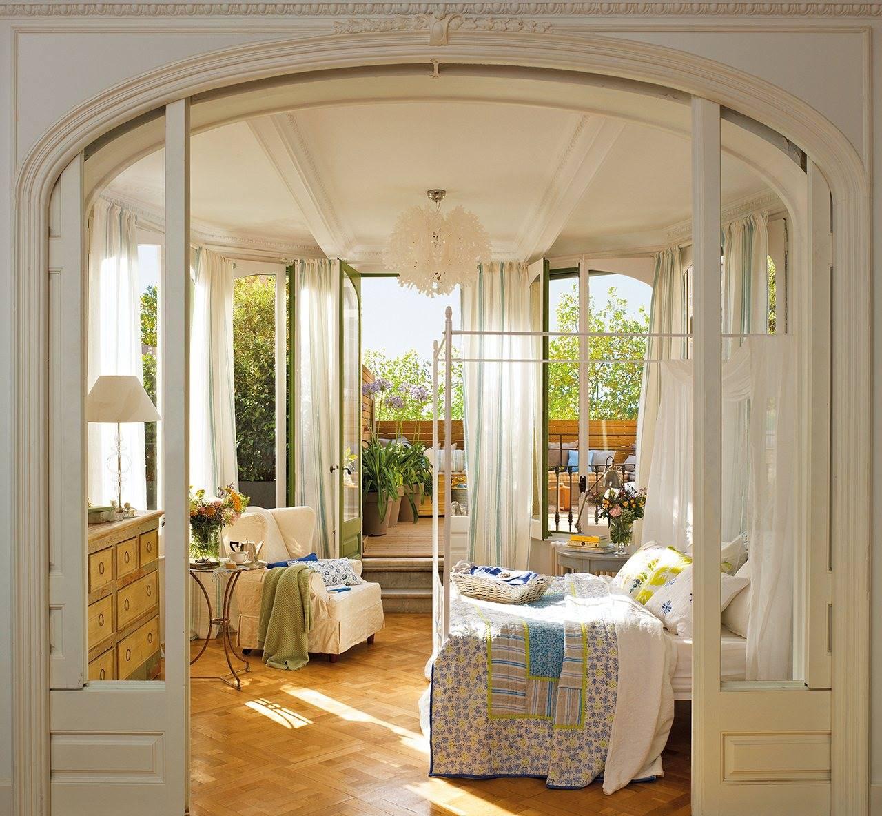 dormitorio con entrada en arco y salida a terraza 1280x1184. Nítido y transparente