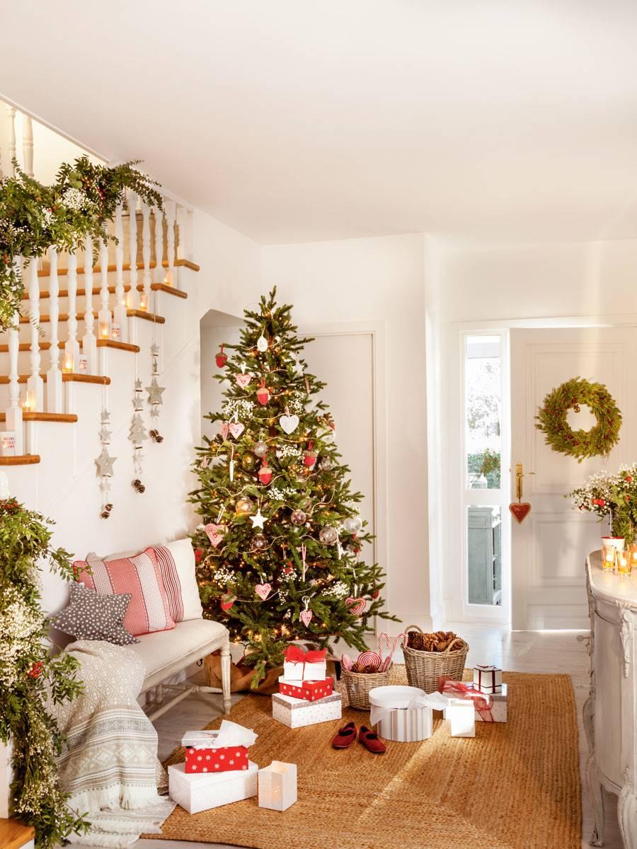 Los mejores ideas para decorar el recibidor en navidad - Adornar la casa en navidad ...