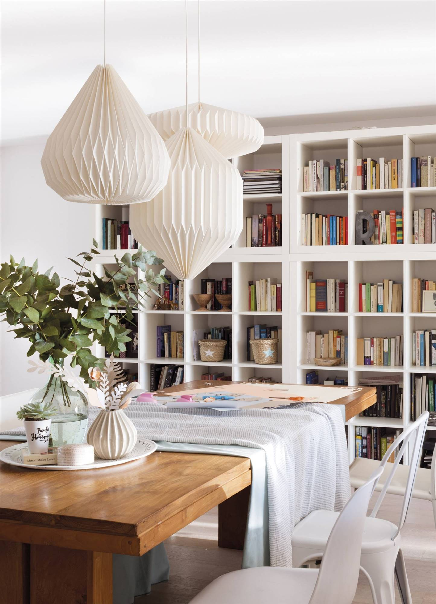 2157 fotos de l mparas - Librerias salon blancas ...