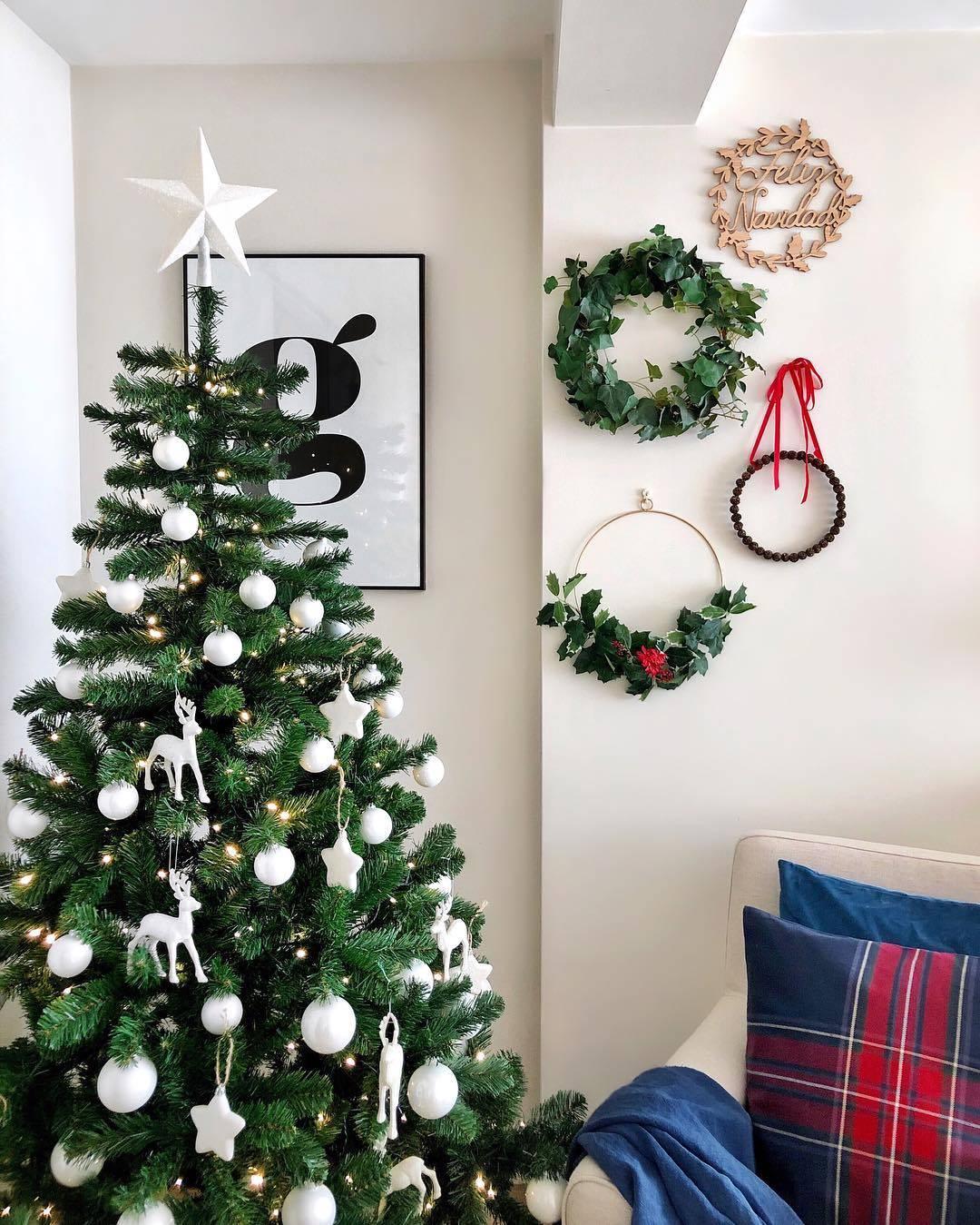 17cf4458a8d ÁRbol de Coton et Lavande. Un árbol de Navidad Total white