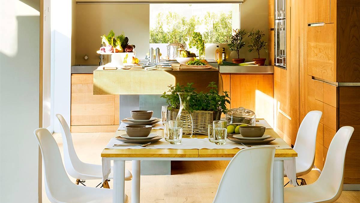 Abierta y c lida una cocina con alma de roble - Cocina con alma ...