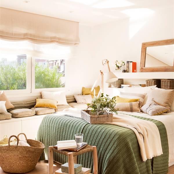 10 ideas geniales para dormitorios peque os - Bancos para dormitorio matrimonio ...