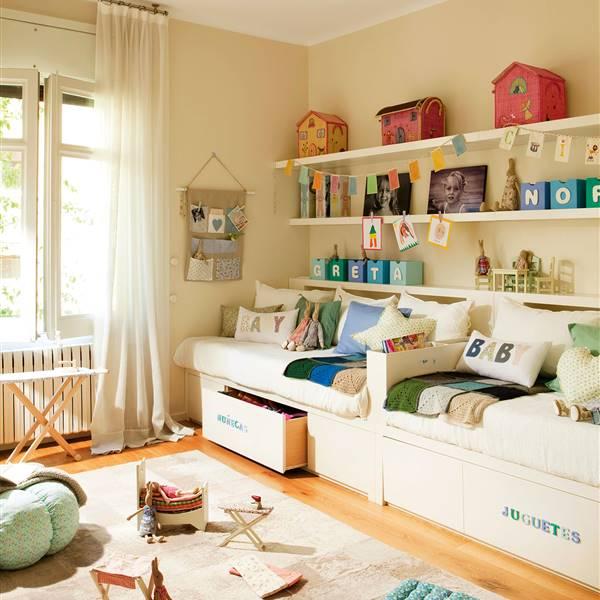 30 Habitaciones Para Más De Dos Niños Con Buenas Ideas