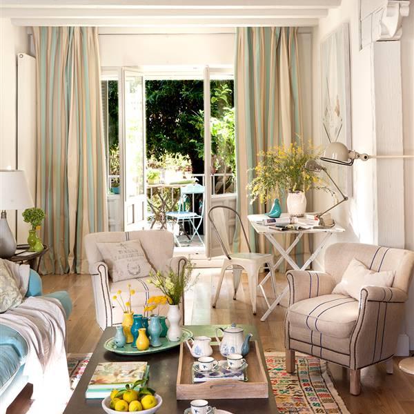 Diez pisos peque os con las mejores ideas para aprovechar el espacio - Pinturas para salones pequenos ...