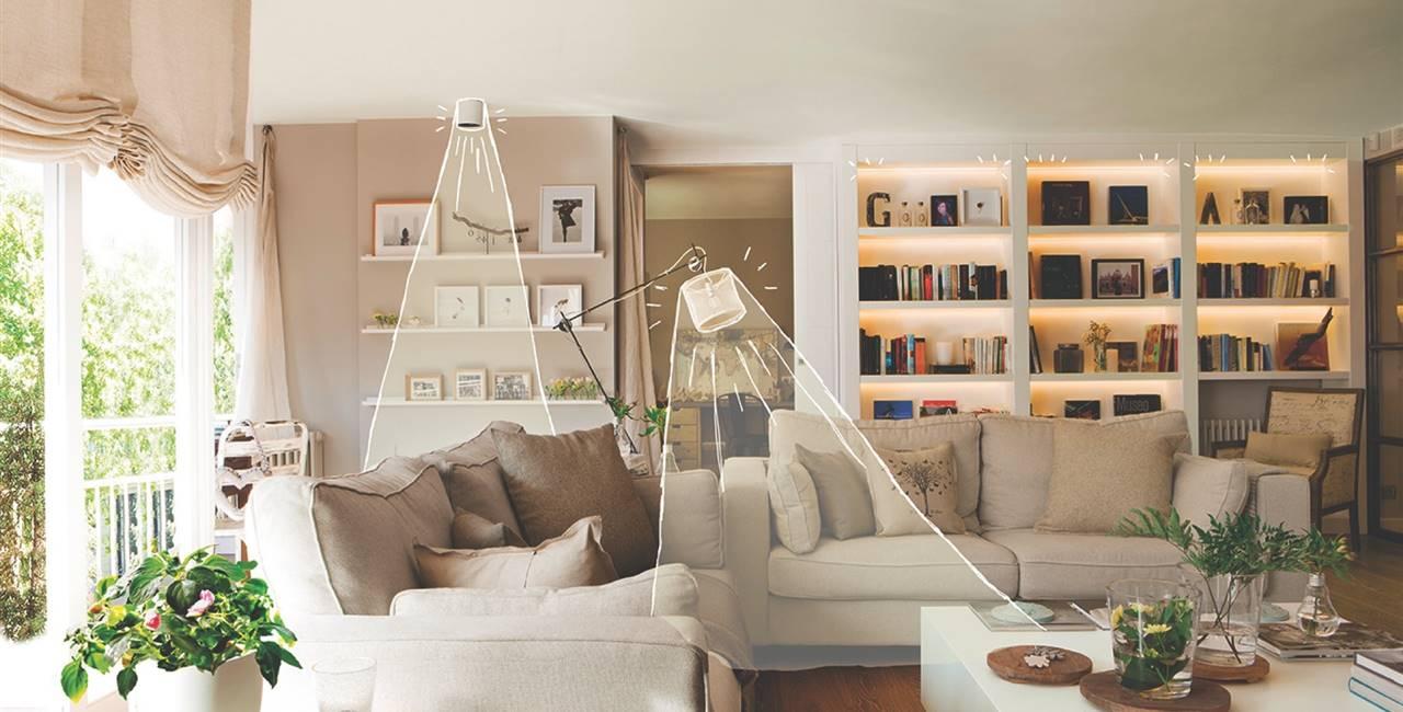 8 claves para iluminar bien el salón