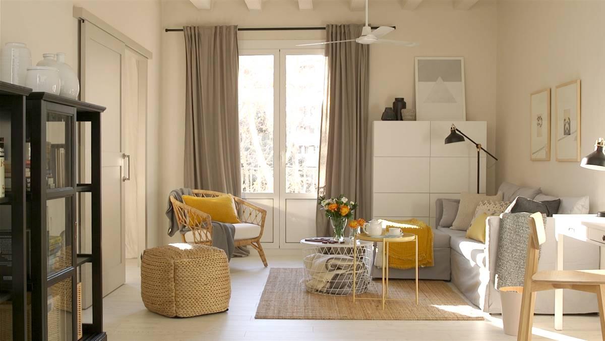 C mo amueblar un sal n low cost desde cero - Muebles de salon modernos ikea ...
