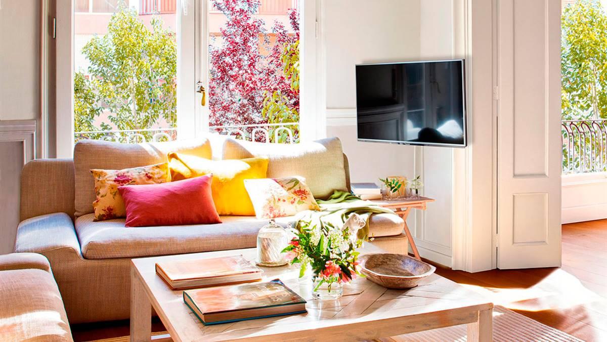 D nde poner la tele consejos para saber d nde colocar la for Muebles encantadores del pais elegante