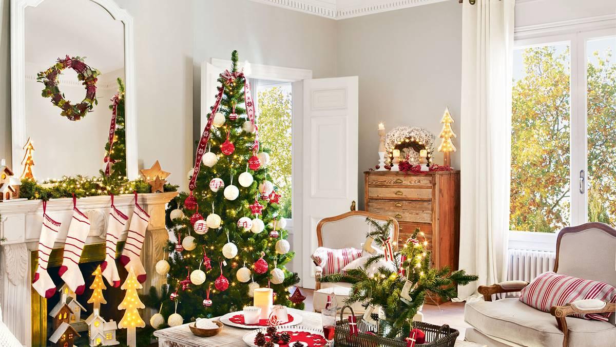 aad38db393f Decoración de Navidad en rojo y verde  15 ideas para decorar tu casa