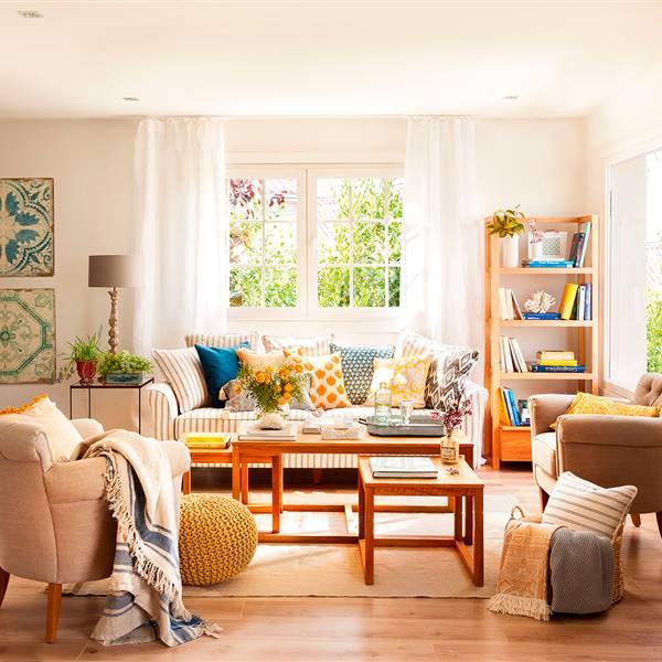 Con cinco (muebles) basta para decorar el salón