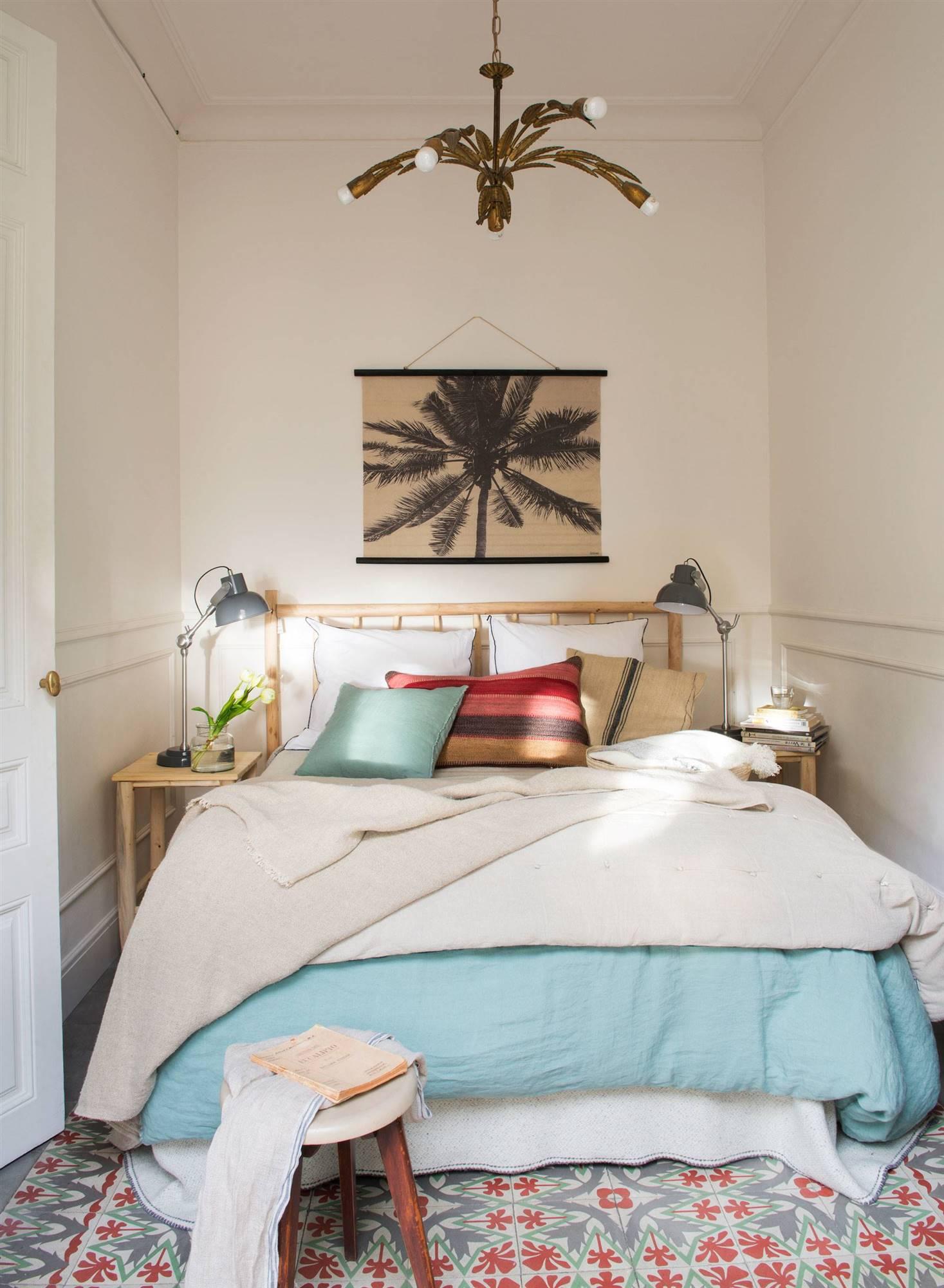 Decorar el dormitorio con baldosas hidráulicas