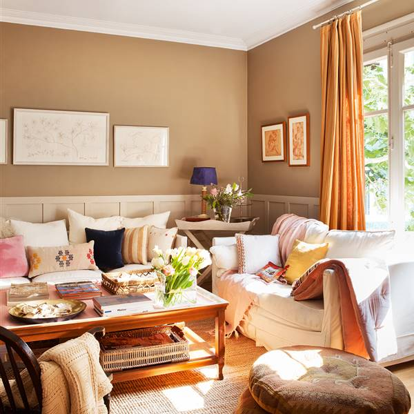 Tr os de colores que transforman tu sal n - Colores de pinturas para paredes de salon ...