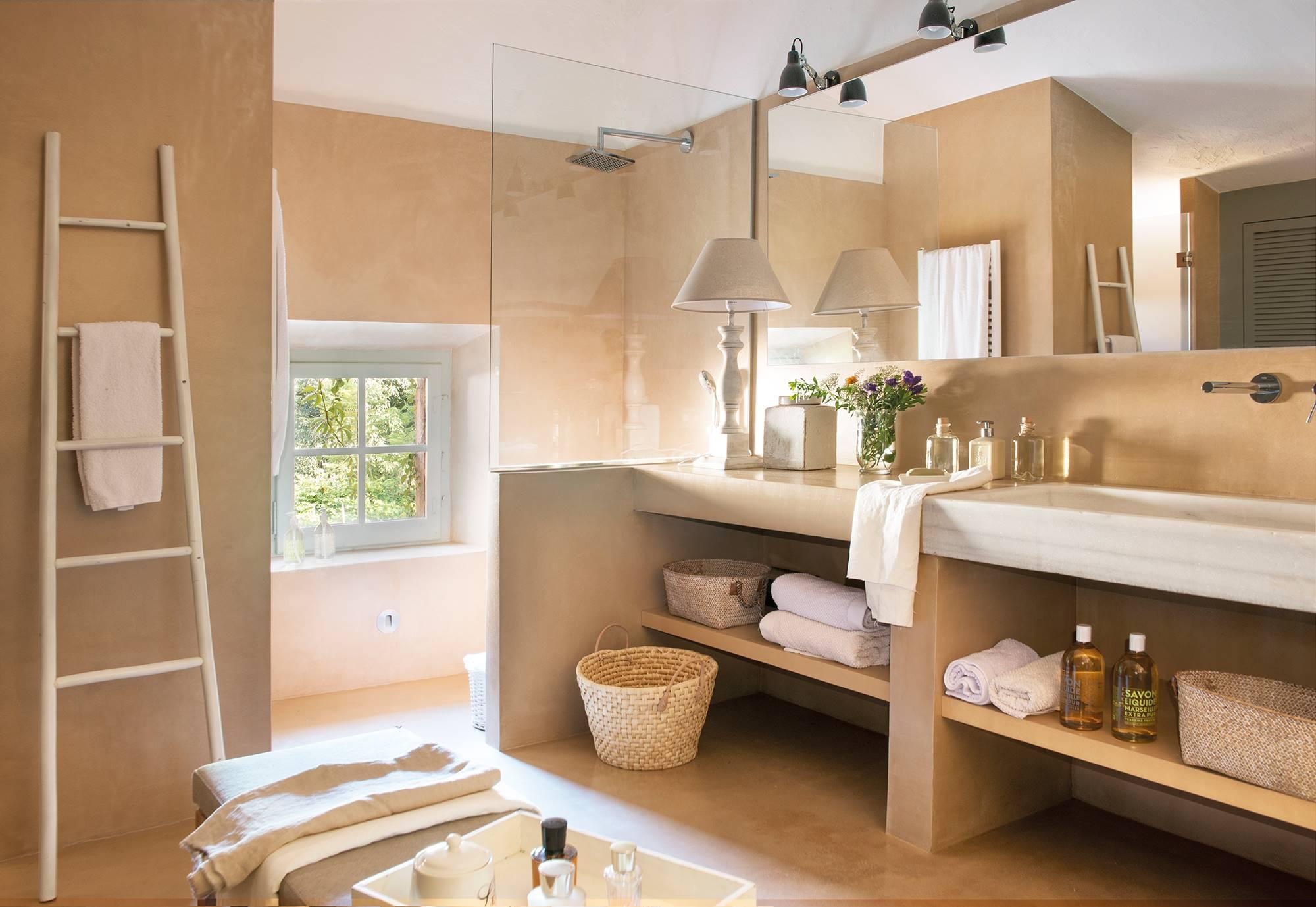 Baños rústicos: los 60 mejores de El Mueble