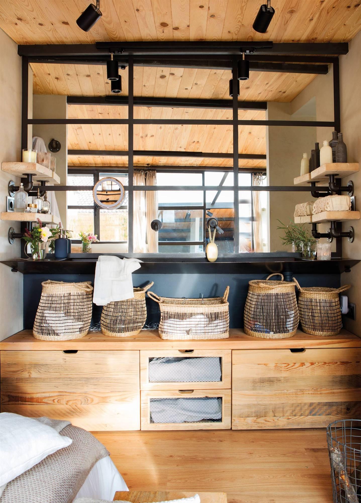 Ba os r sticos los 50 mejores de el mueble for Muebles bano rusticos ikea