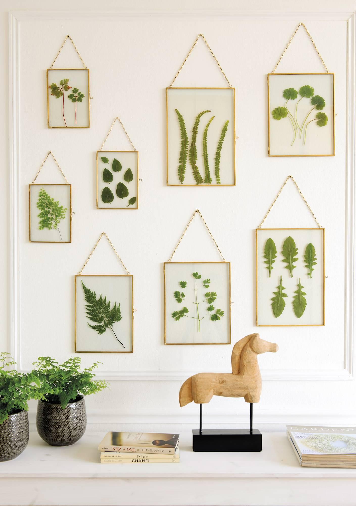 cuadros hechos con hojas verdes 00451421. Cuadros con hojas secas f9769ef08eae