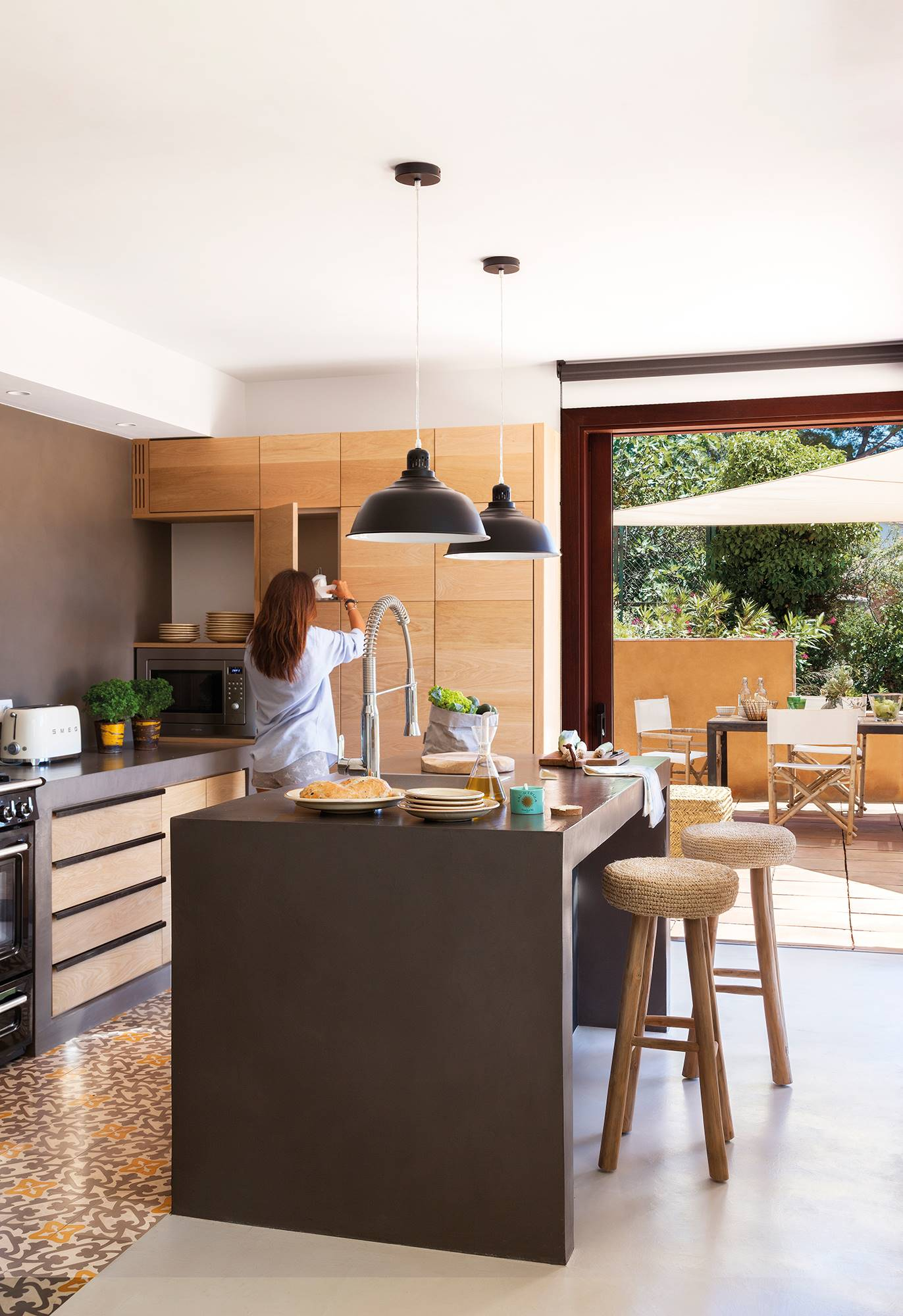 Paredes de la cocina con o sin azulejos - Encimeras madera cocina ...