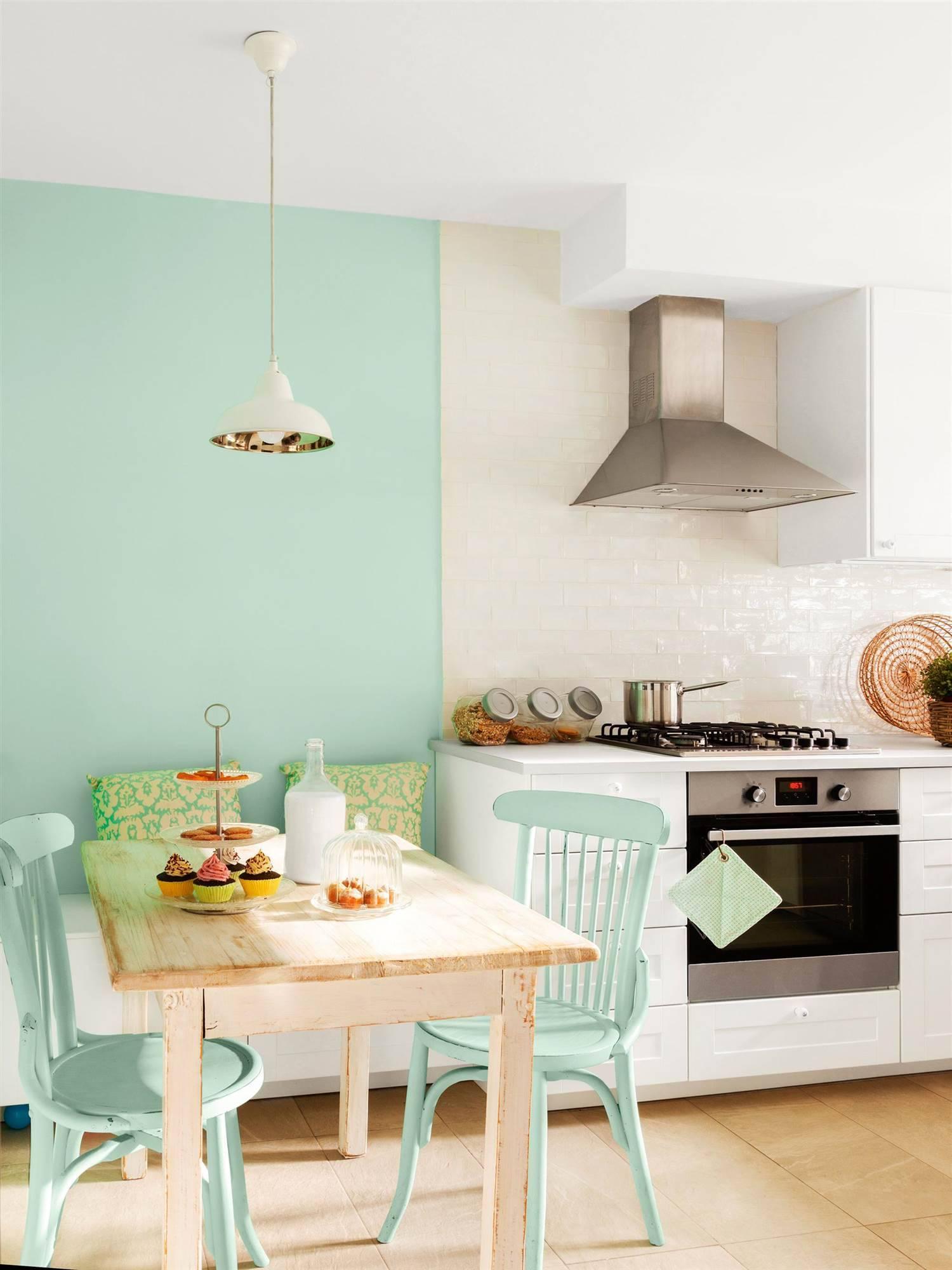 Ideas para pintar la casa - Pared cocina pintada ...