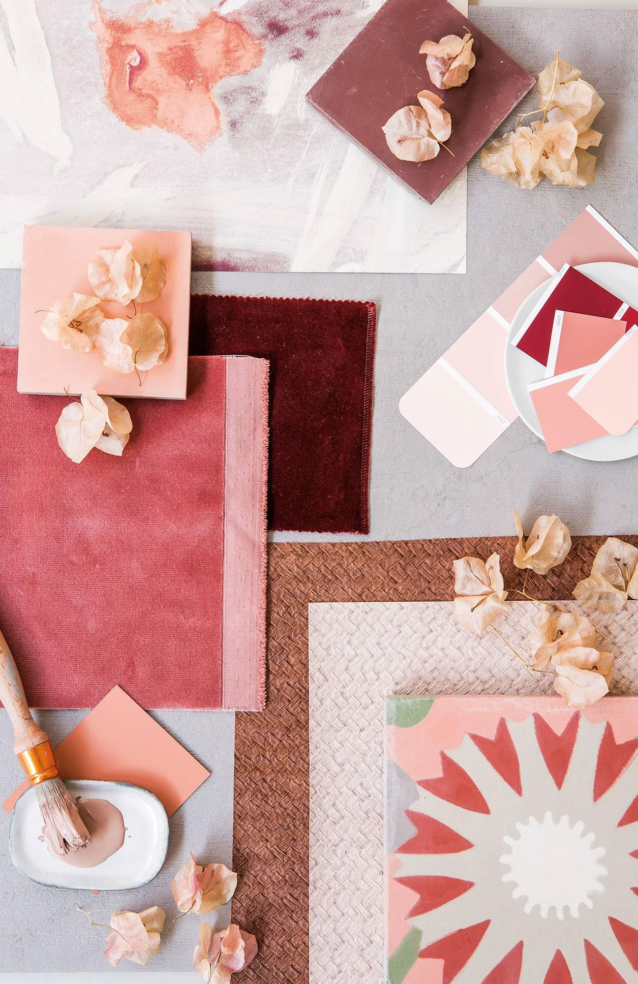 00474443. Rosa, un color versátil y con muchos matices 粉色搭配物料板