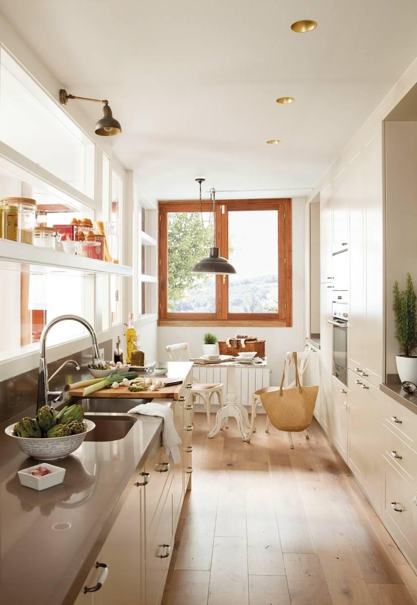 3387 fotos de cocinas for Ideas cocinas alargadas y estrechas