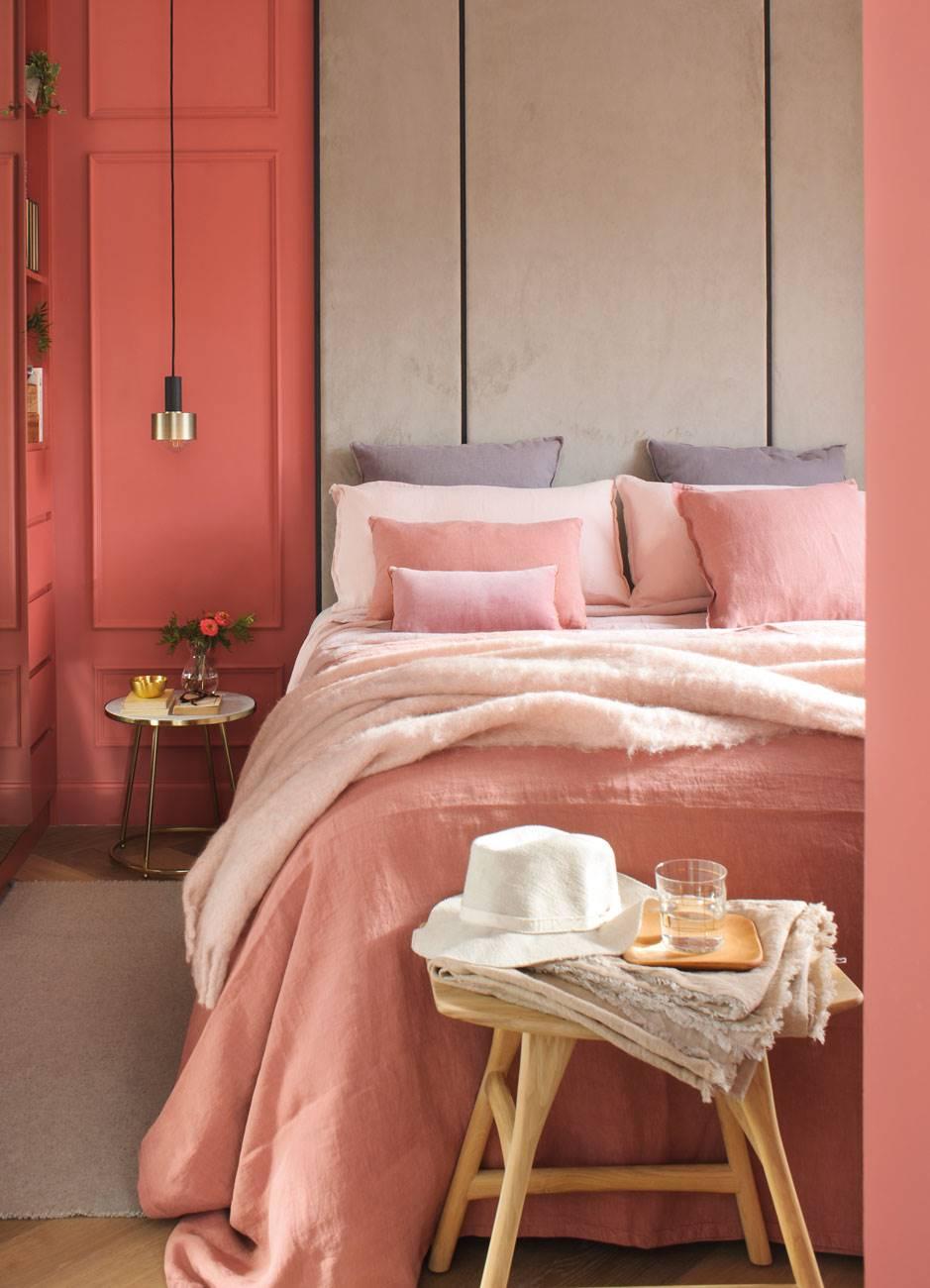 dormitorio-en-tonos-rosas 470676. Romántico y del siglo XXI