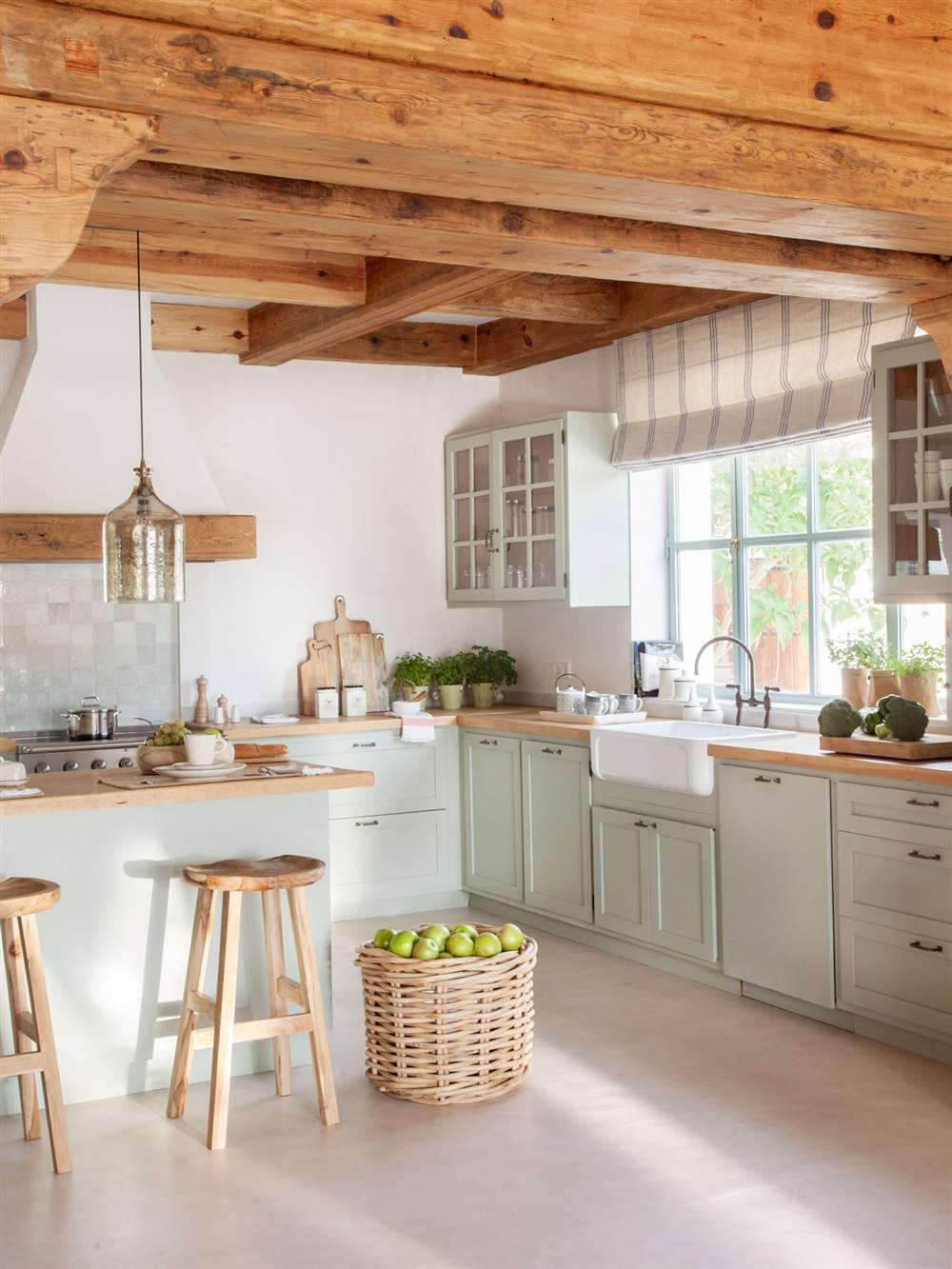 3521 fotos de cocinas - Encimera de madera para cocina ...