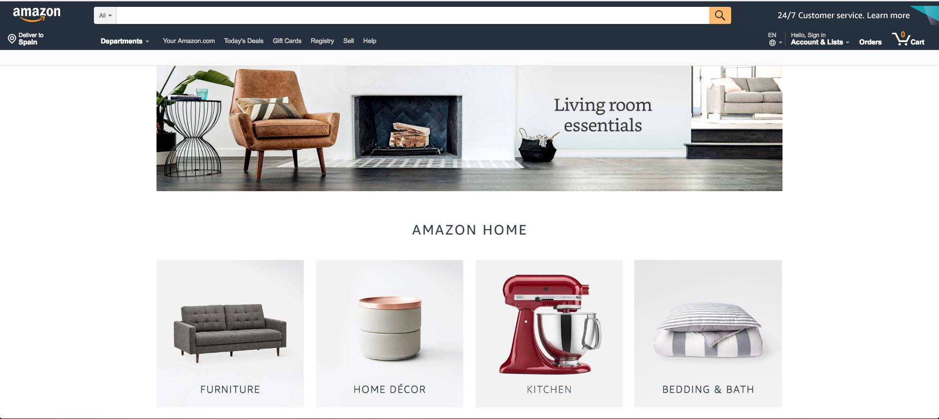 amazon home. Amazon, los muebles del gigante
