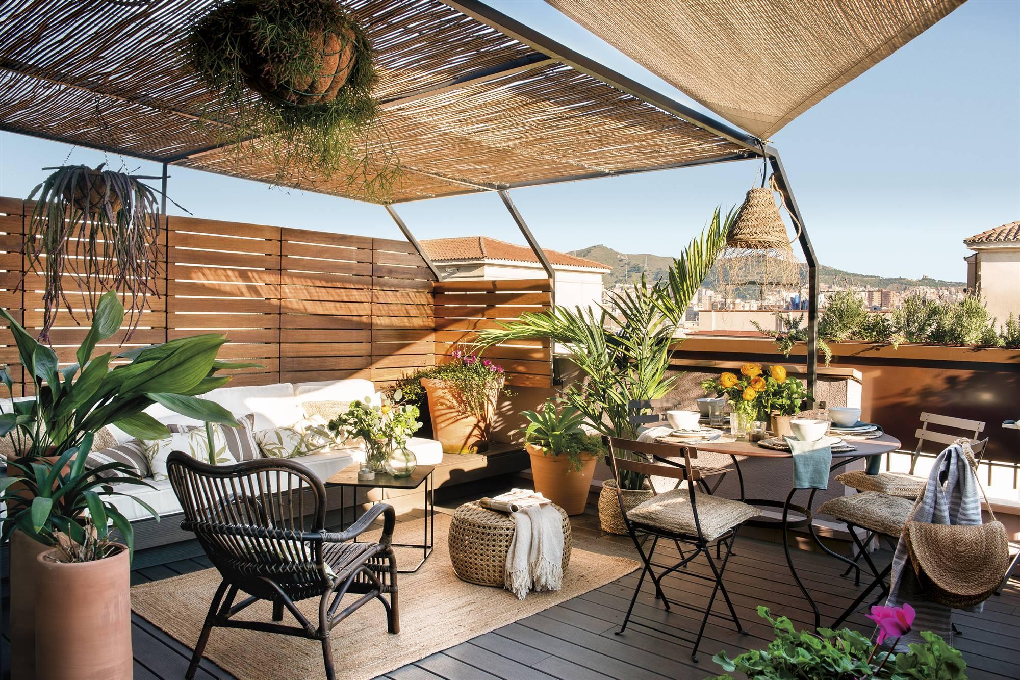 Un piso con terraza de un pastelero lleno de ideas