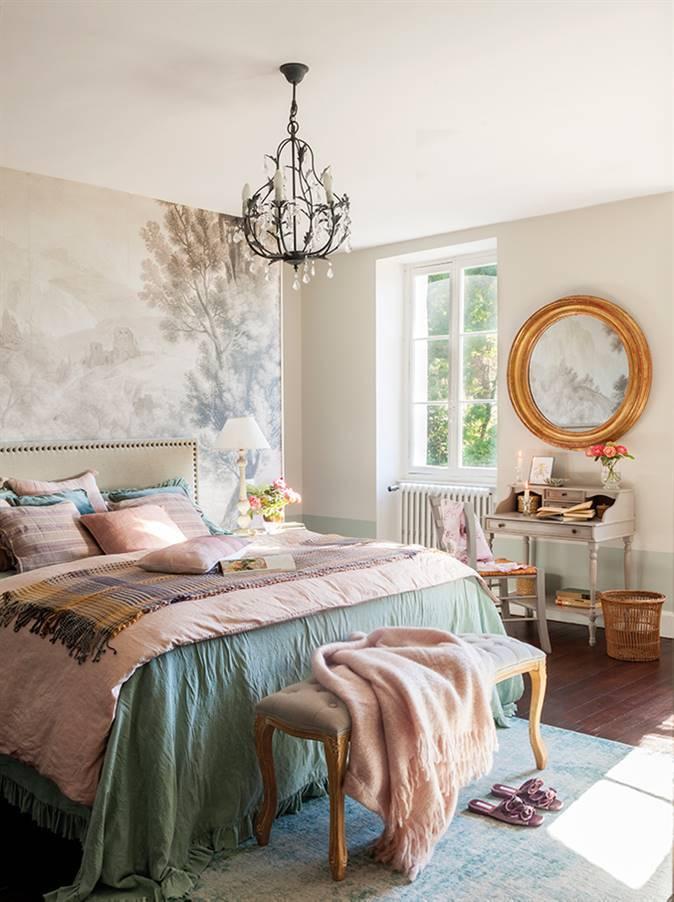 Un dormitorio muy romántico