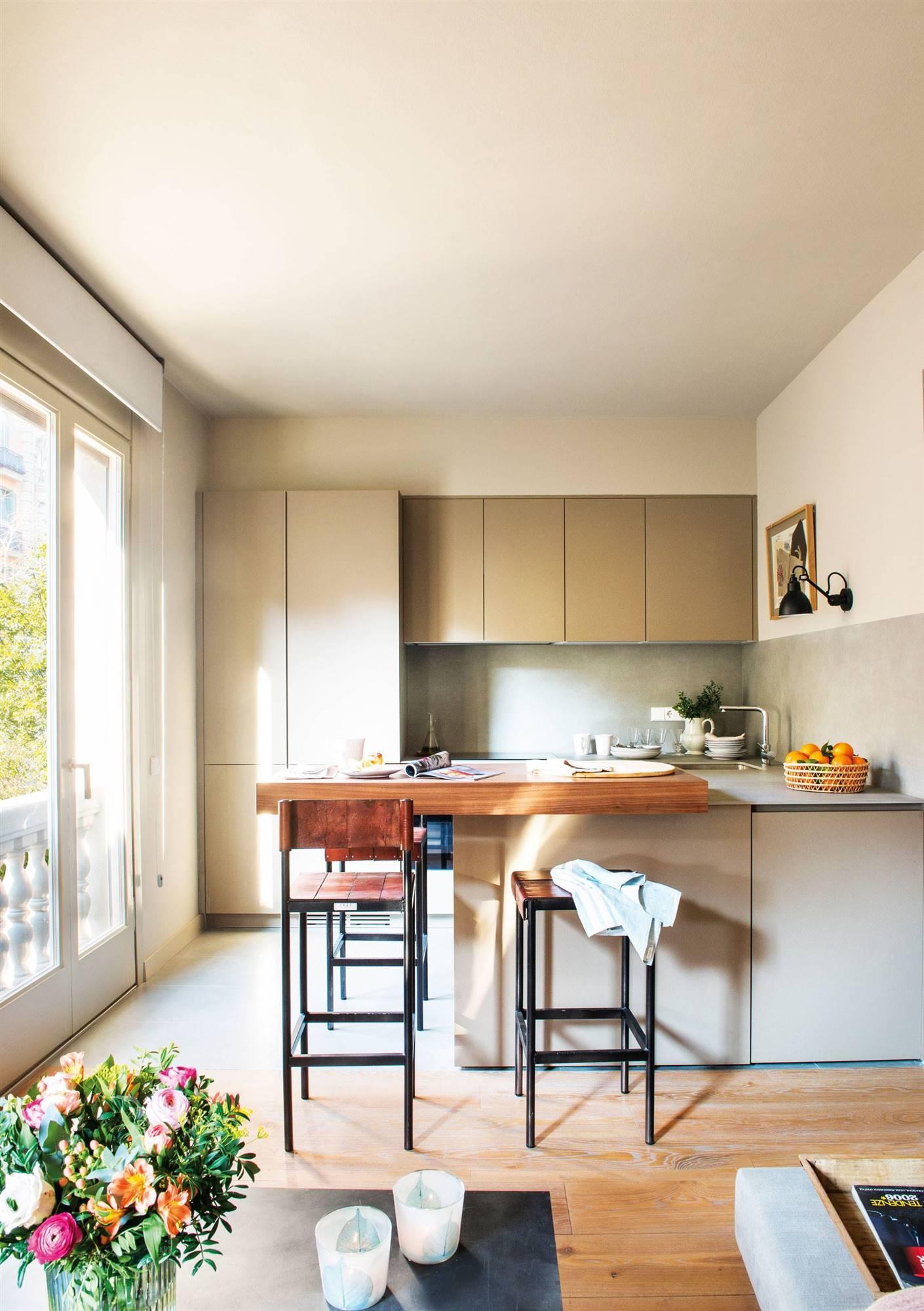 Cocinas y ba os peque os de menos de 6 metros cuadrados - Reformas de cocinas y banos ...