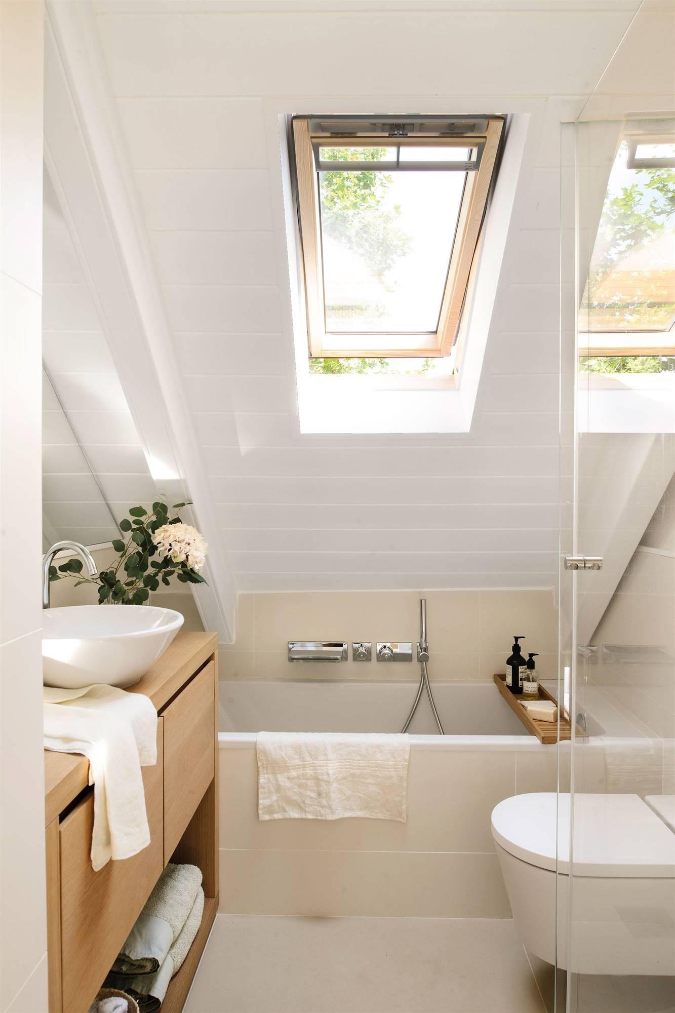 Attic bathroom of less than 6 m2 00464945. 5. A bathroom in a 4 m2 attic