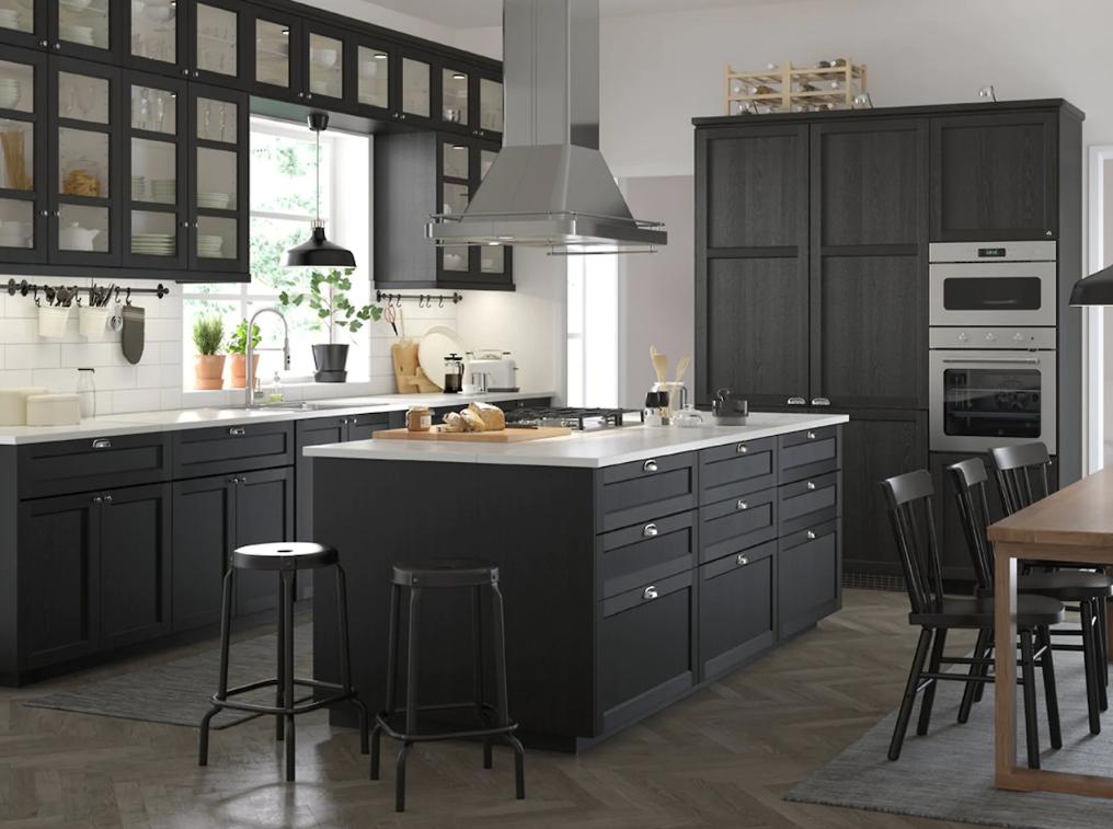 Cocinas en negro tendencia y buen gusto - Cocinas negras ...