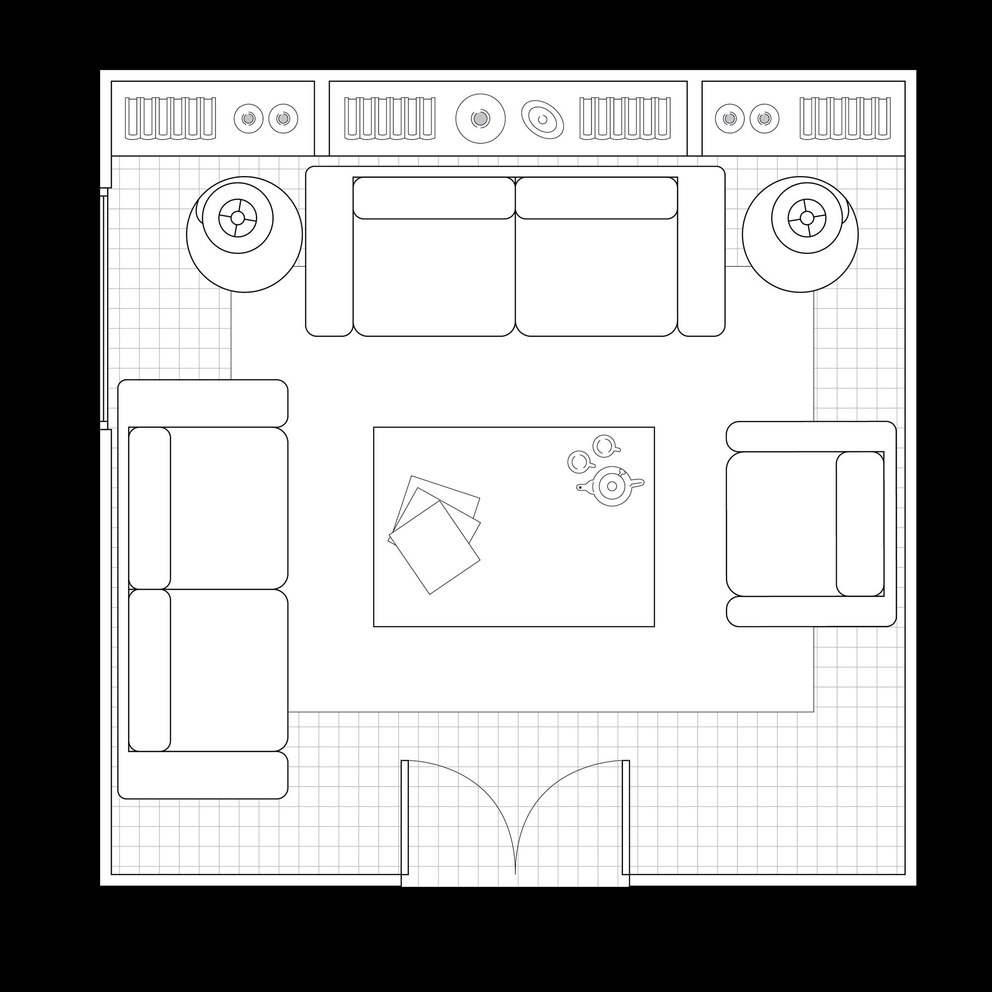 Cómo distribuir un salón cuadrado: con ejemplos con planos