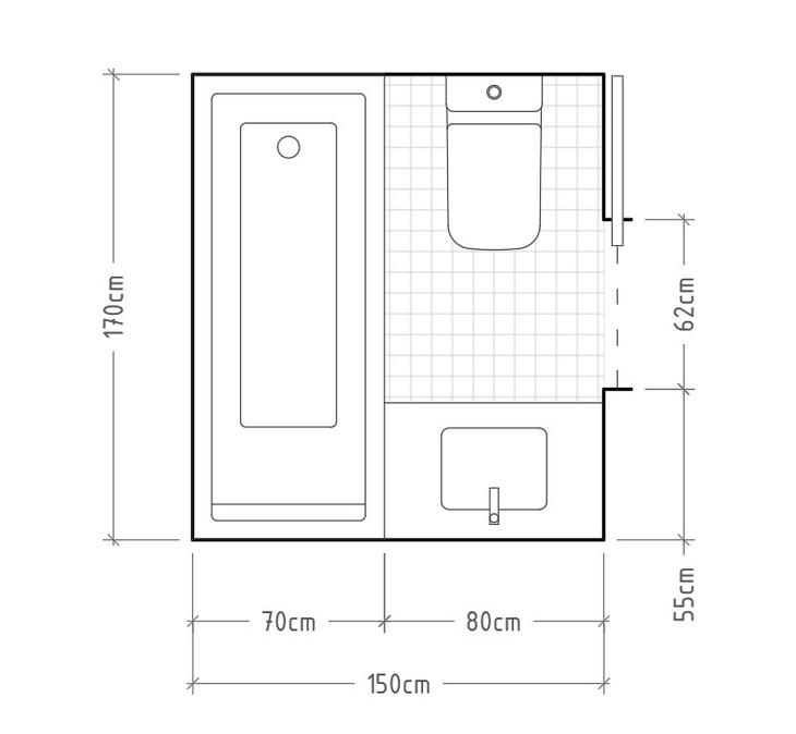 Cómo distribuir un baño pequeño de 5 metros