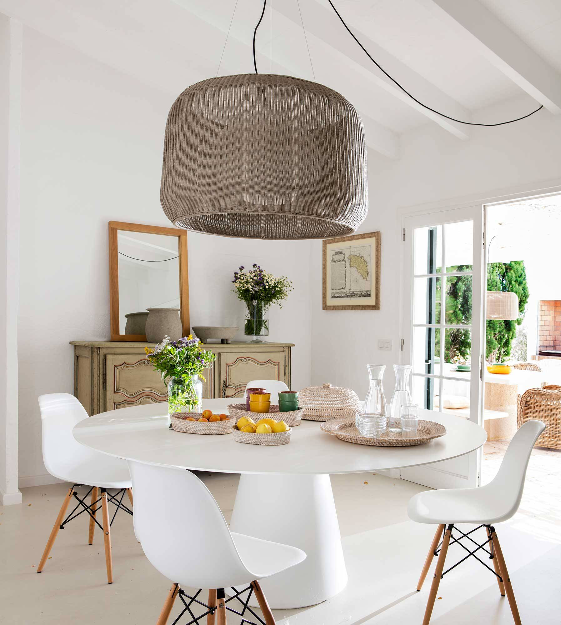 sillas para mesa de comedor blanca