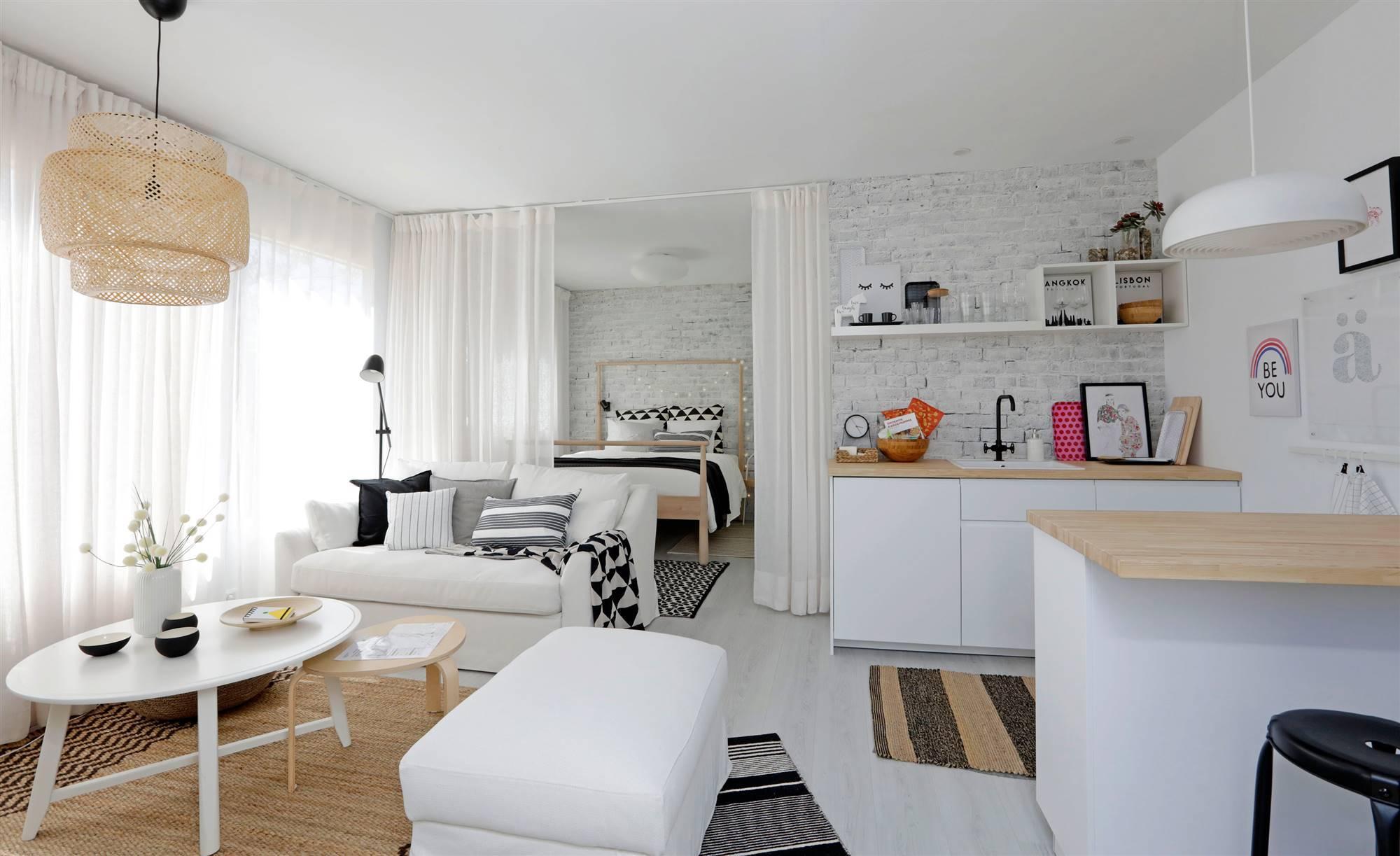 CASAIKEA002. Un apartamento de 35 m2 en clave nórdica