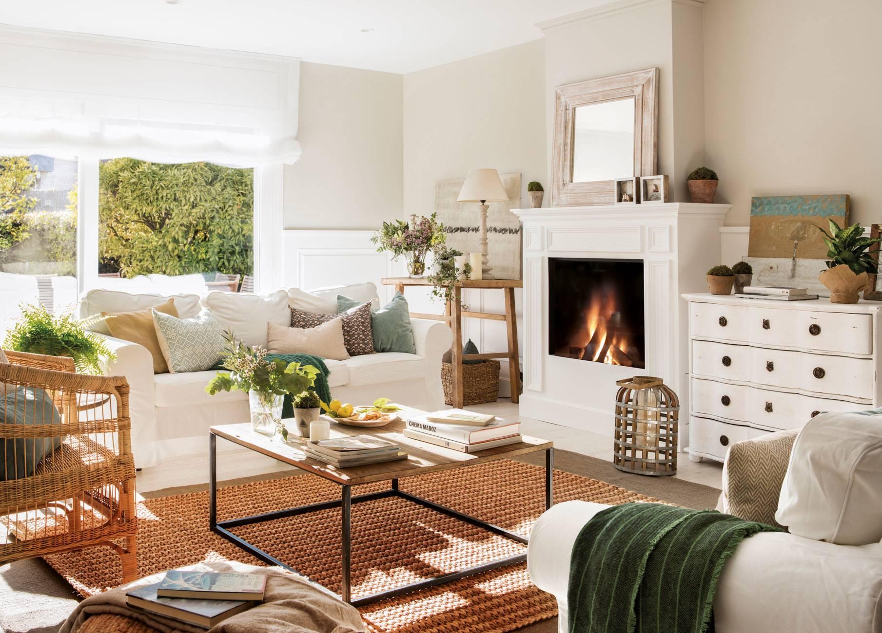 17 salones con sofás de IKEA