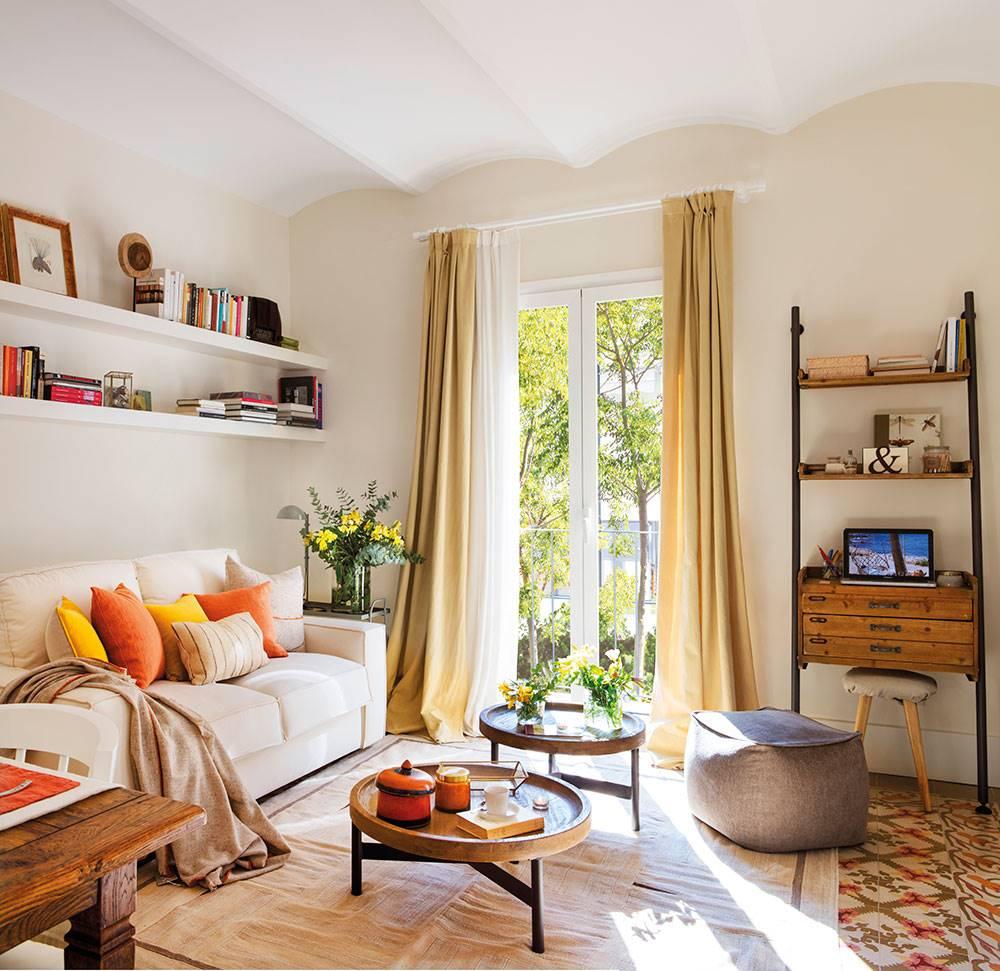 15 salones pequeños bien aprovechados con trucos para decorar