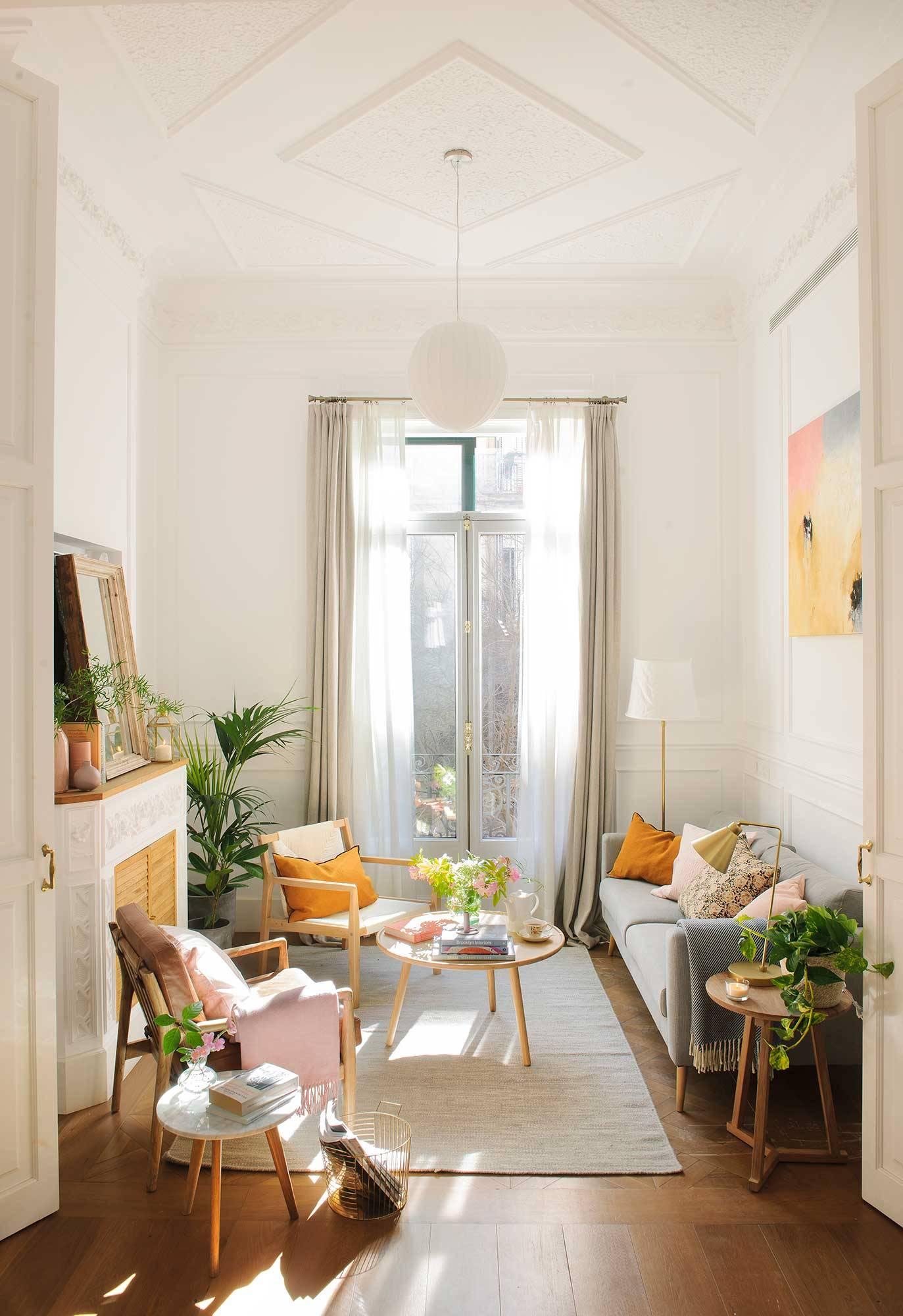 50 salones pequeños bien aprovechados con trucos para decorar