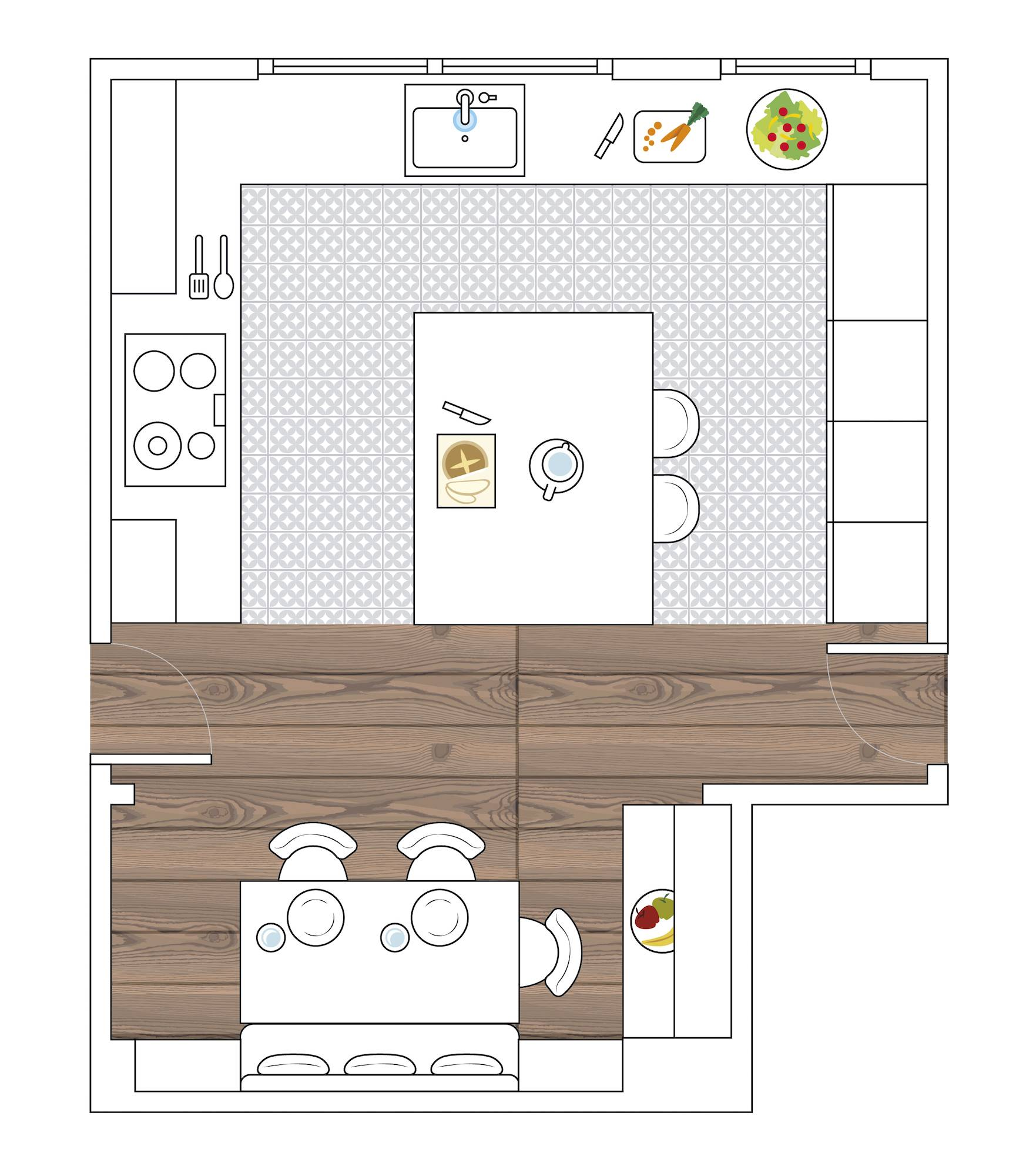 white kitchen plan with island 00503651. The ideal kitchen: a U with island