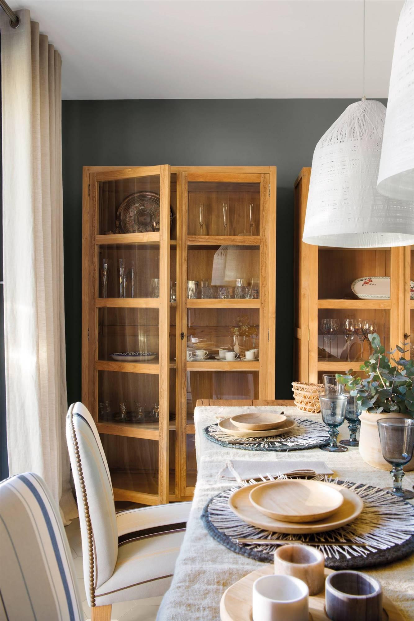 204 fotos de vitrinas - Vitrinas de madera para comedor ...