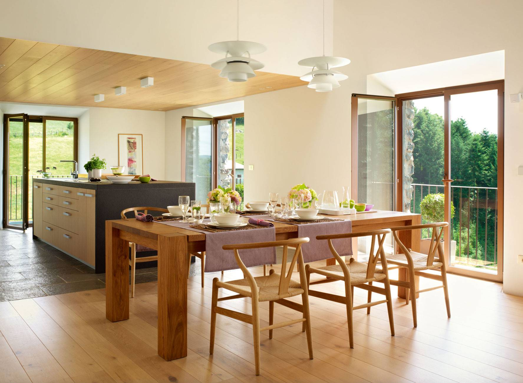 kitchen-open-to-dining-room-with-super-island 326965. Between the meadows
