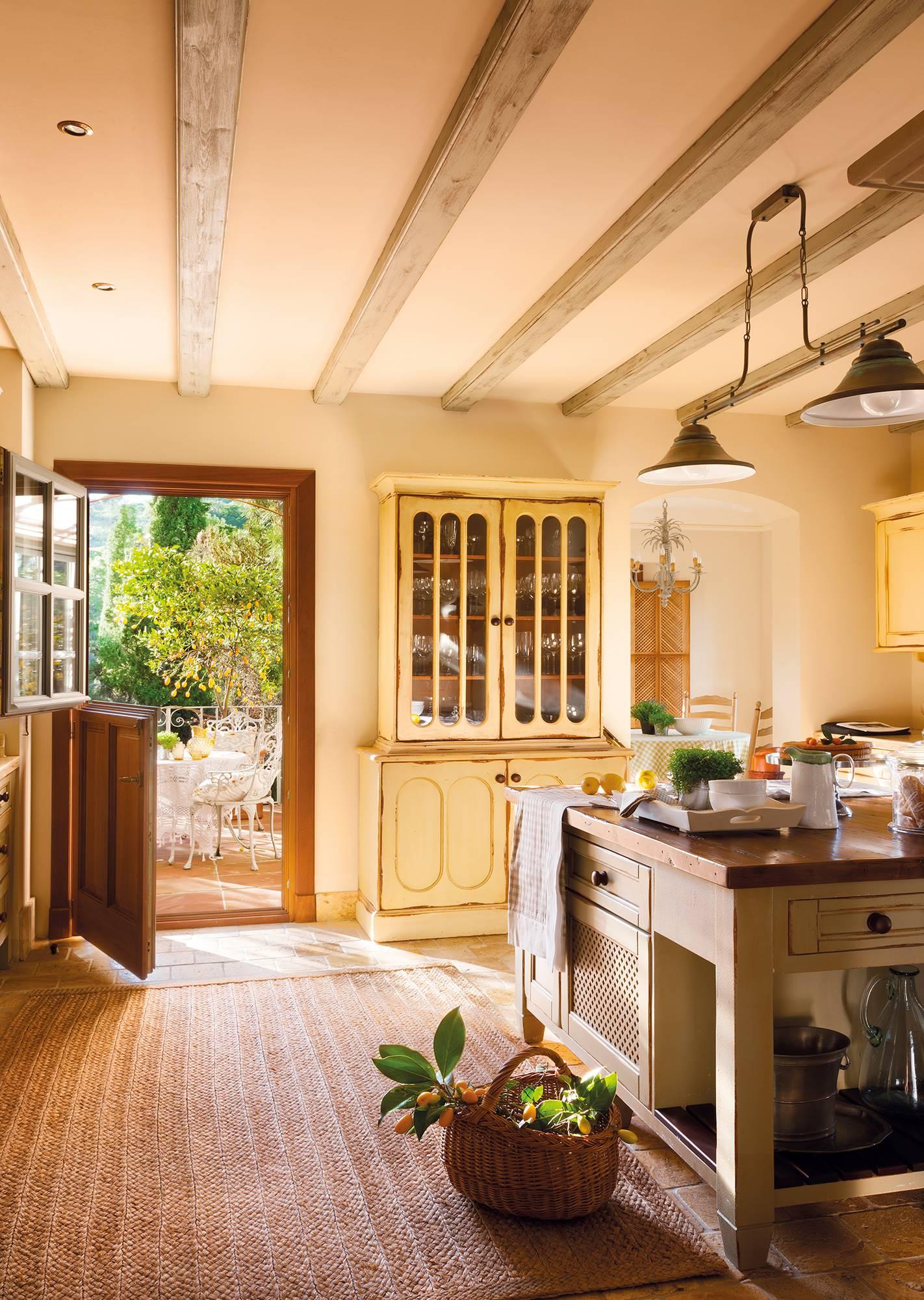 rustic style kitchen_381512.  A 100% farmhouse kitchen