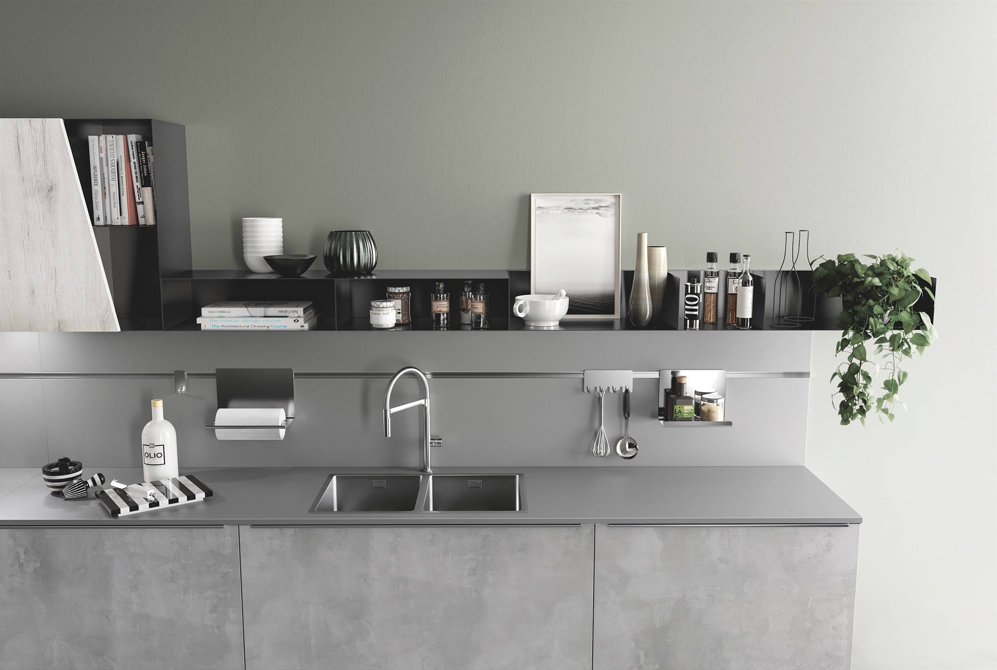 10 Kitchens with shelves.  Kitchens with shelves