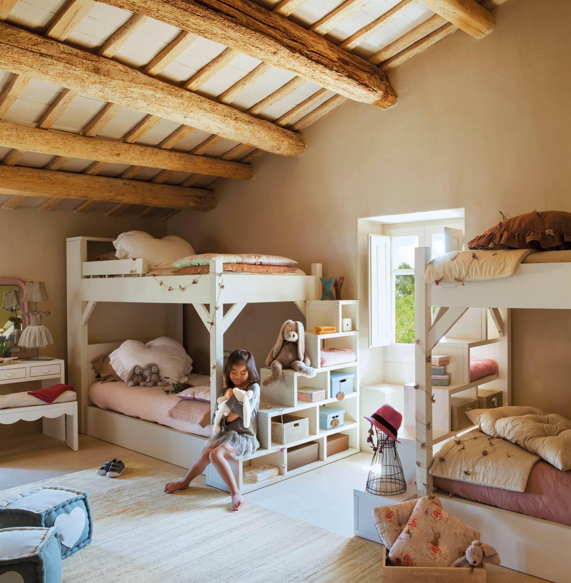 50 habitaciones para m s de dos ni os con buenas ideas - Vtv muebles infantiles ...