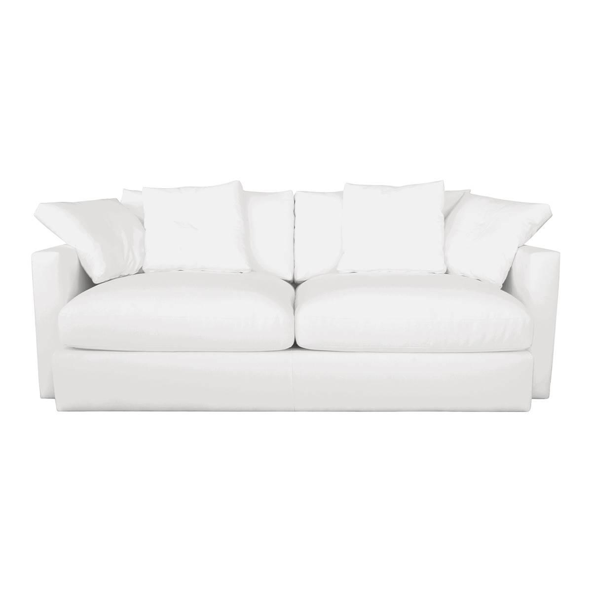 Sofá blanco . Copia el look
