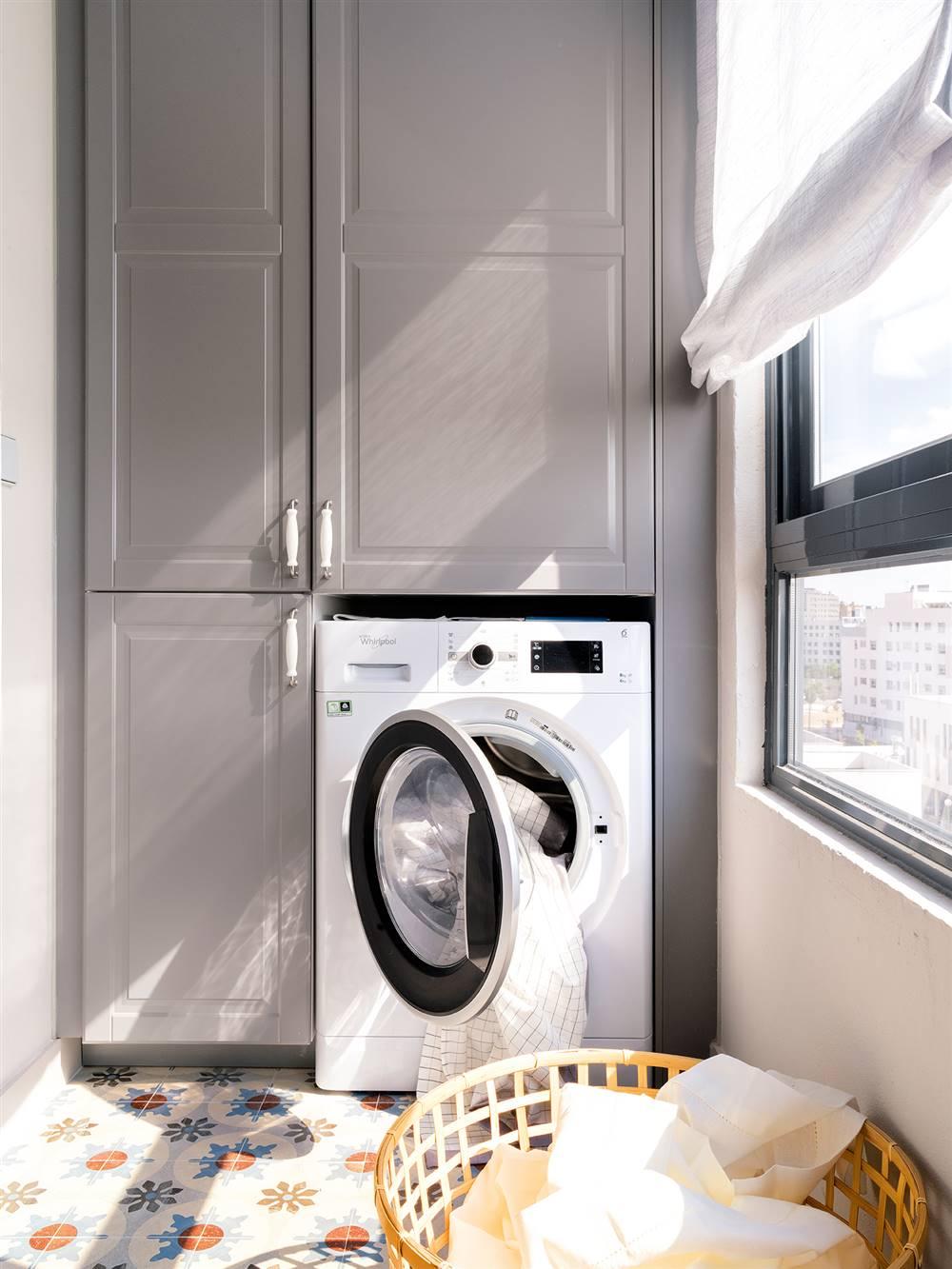 lavadora con cesto